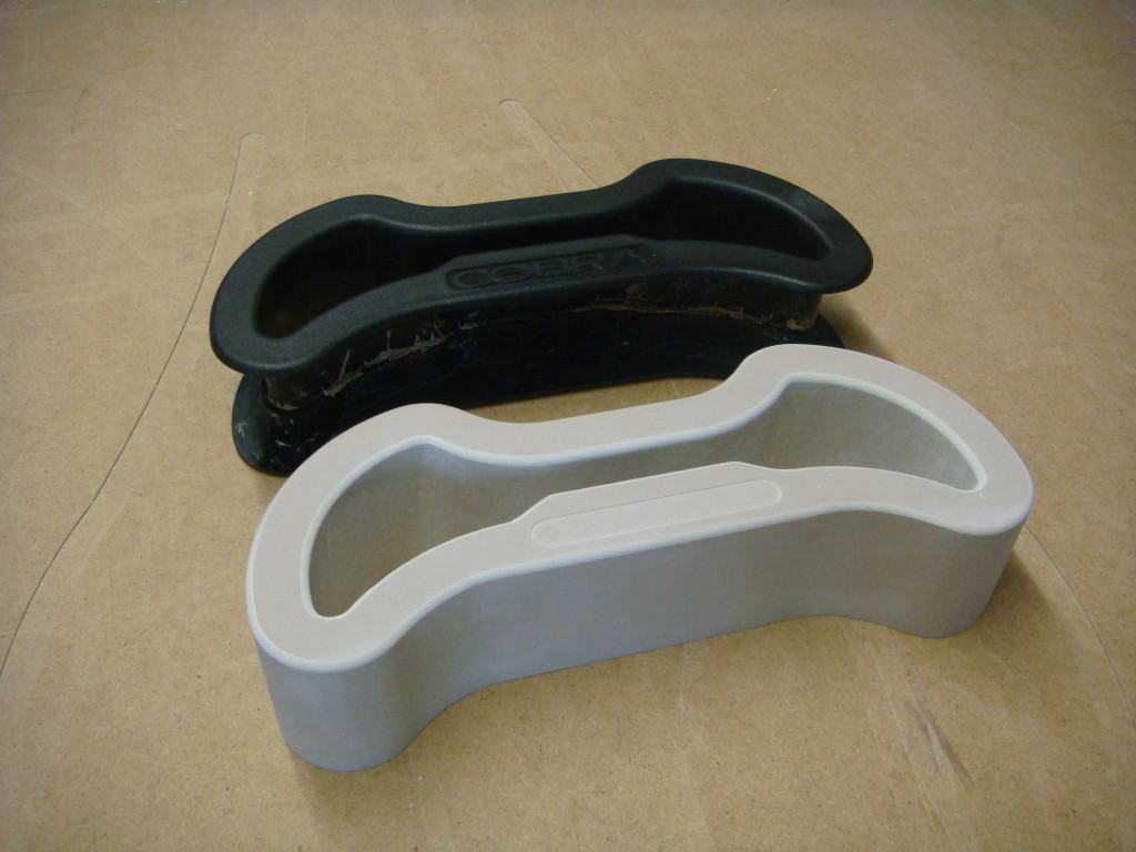 Production of simple composite parts