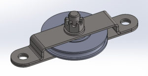 cad cheek block pulley